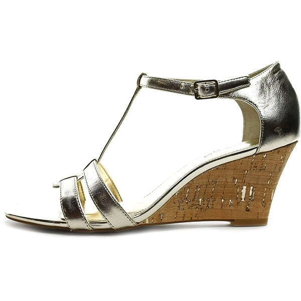 LAUREN by Ralph Lauren Womens Harleen Leather Open Toe Casual Platform Sandals