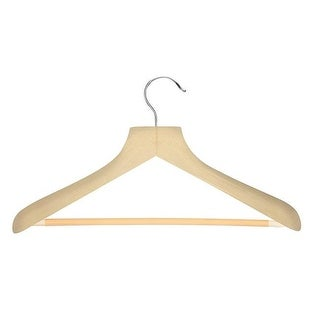 Curved Wood Suit Hanger with Trouser Bar, Maple