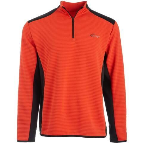 Greg Norman Mens Sweatshirt Colorblock 1/4 Zip