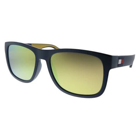 Tommy Hilfiger TH 1556/S DCD 56mm Unisex Blue Yellow Frame Gold Mirror Lens Sunglasses