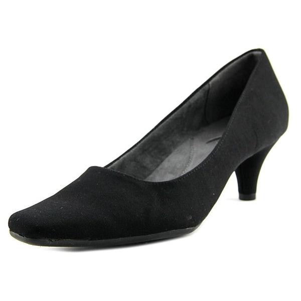Aerosoles Cheerful Women Pointed Toe Canvas Black Heels