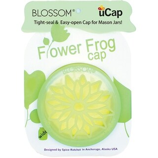 Blossom 16837 uCap Silicone Wide Flower Frog, Green