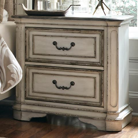 Magnolia Manor Antique White 2-drawer Nightstand