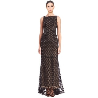 Alice & Olivia Jay Sleeveless Rhinestone Embellished Evening Gown Dress - 6