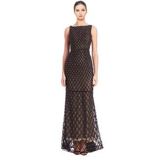 Alice & Olivia Jay Sleeveless Rhinestone Embellished Evening Gown Dress - 6