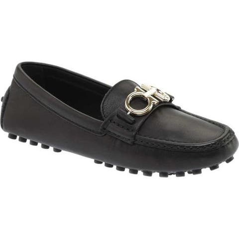Salvatore Ferragamo Women's Berra Loafer Nero Calfskin Leather