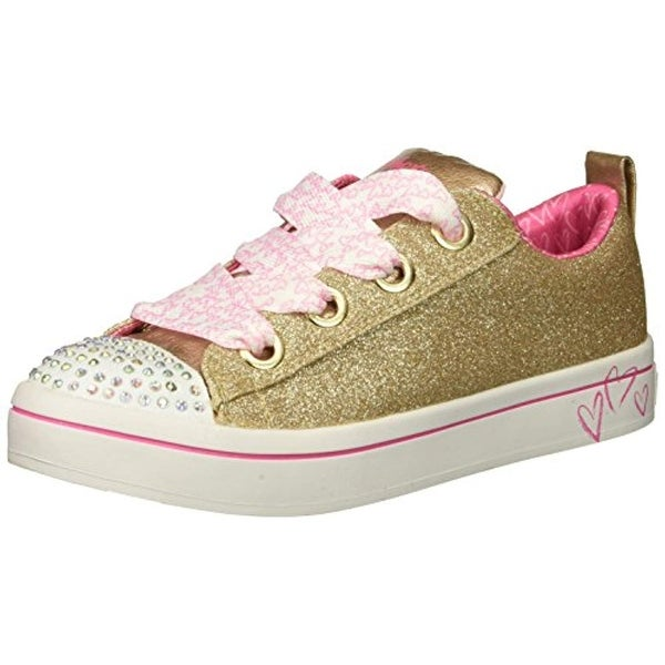 9d6f22e3a7 Skechers Kids Girls' Twi-Lites-Glitter Glamour Sneaker, Silver, 3 Medium Us  Little Kid
