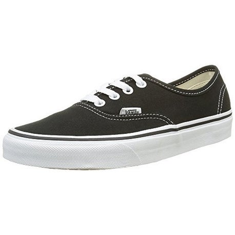 Vans Unisex U Authentic, Black, 7