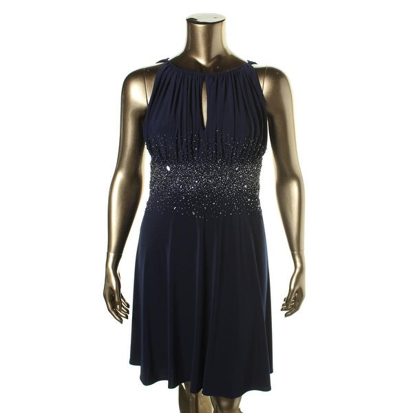 Boutique Womens Cocktail Dress Halter Embellished