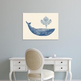 Easy Art Prints Terry Fan's 'Damask Whale' Premium Canvas Art