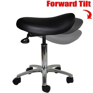 2xhome Adjustable Saddle Stool Backless Chair with Forward Tilting Seat great for Home & Office, Exam, Waiting Rooms & More