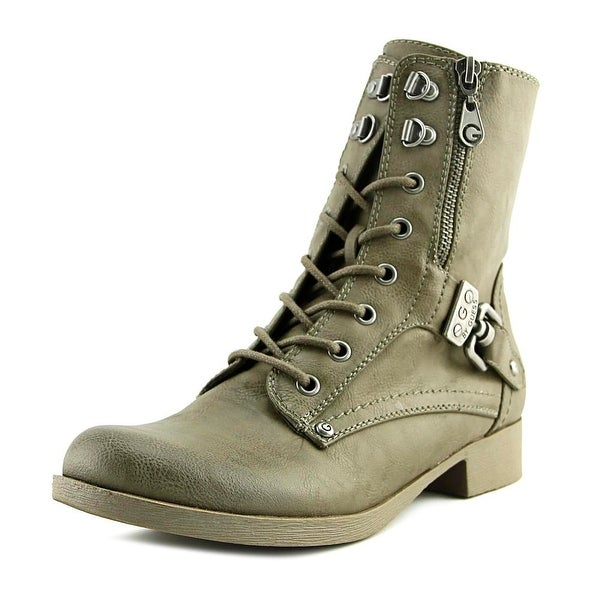 G By Guess Beller Women Round Toe Synthetic Gray Ankle Boot