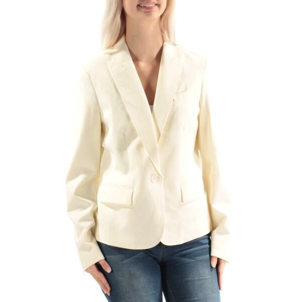 ANNE KLEIN Womens Ivory Blazer Jacket Size: 6