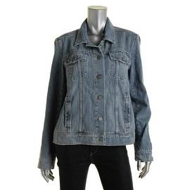 Paige Womens Cotton Long Sleeves Denim Jacket - L