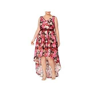 Adrianna Papell Womens Plus Evening Dress Beaded Pocket - 20W