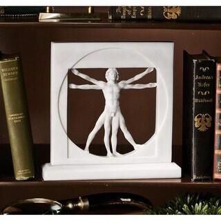 Design Toscano Vitruvian Man Bonded Marble Statue