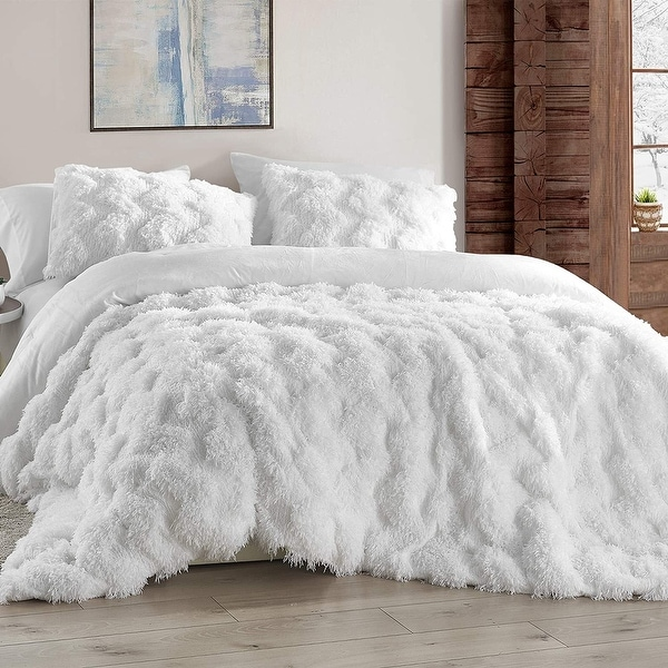 Chevron Birds of a Feather - Coma Inducer® Oversized Comforter - White