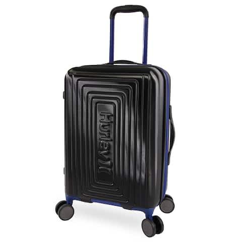 Hurley Suki 21-inch Carry On Hardside Spinner Suitcase - Black/Blue