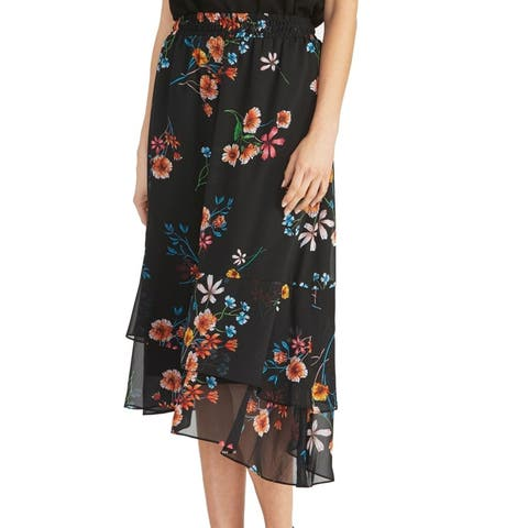 Rachel Rachel Roy Womens Skirt Classic Black Size Medium M Asymmetrical