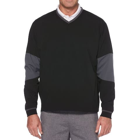 PGA Tour Mens Activewear Black Size Small S Golf Colorblock Pullover