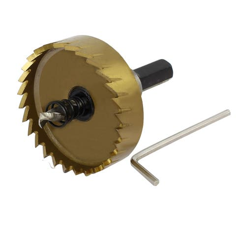 50mm Cutting Dia HSS Triangle Shank Toothed Twist Drill Bit Hole Saw