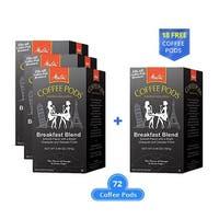 Melitta 75421 Breakfast Blend 18 Counts (3-Pack) Breakfast Blend Coffee Pods