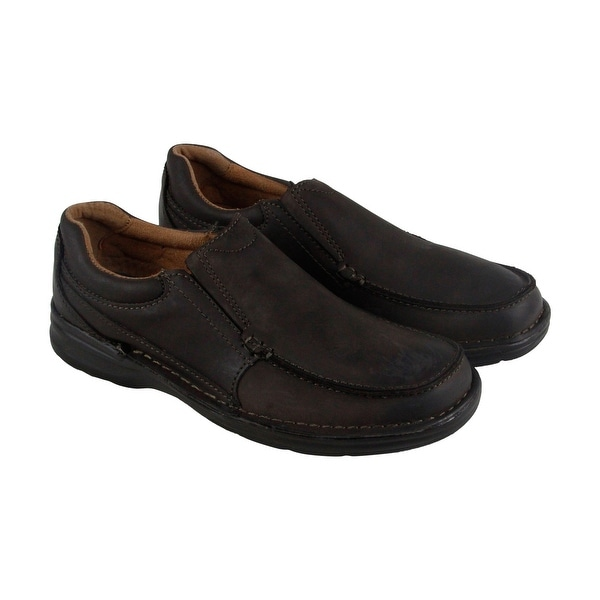Nunn Bush Patterson Mens Brown Leather Casual Dress Slip On Loafers Shoes