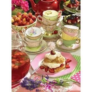 """Jigsaw Puzzle 500 Pieces 24""""X18""""-Strawberry Tea"""