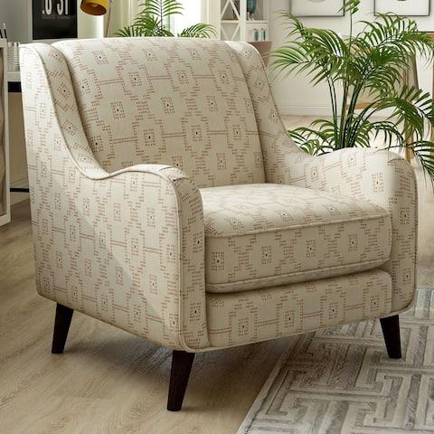 Furniture of America Gandree Transitional Keystone Pattern Armchair