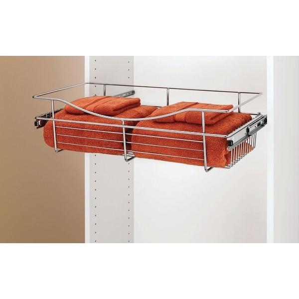 "Rev-A-Shelf CB-241407 CB Series 24 x 14 x 7"" Wire Pull-Out Closet Basket"
