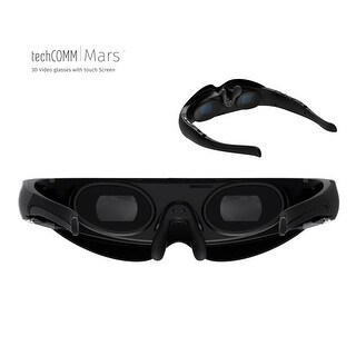 TechComm Mars 8GB Android 3D Video Glasses with 98-inch Virtual Screen, Bluetooth, WiFi, Touch Screen and Virtual Keyboard