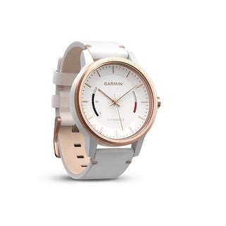 Garmin Vivomove Classic w/ Leather Band (certified refurbished) White/Rose Gold - White/Rose Gold