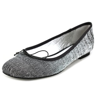 Adrianna Papell Zoe Women Square Toe Synthetic Silver Flats