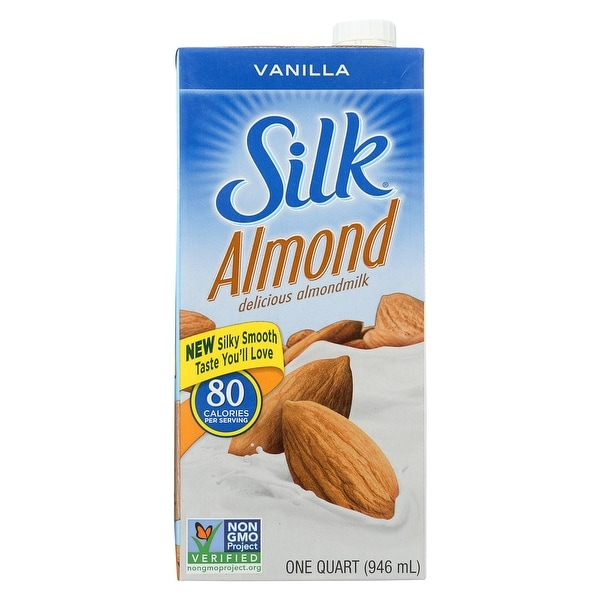 Silk Pure Almond Milk - Vanilla - Case of 6 - 32 Fl oz.