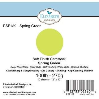 "Soft Finish Cardstock 12""X12"" 10/Pkg-Spring Green"