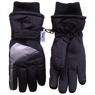 NICE CAPS Kids Thinsulate and Waterproof Colorblocked Ski Gloves