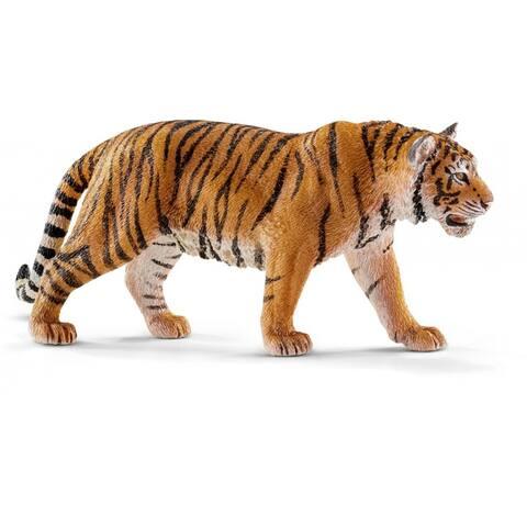 Schleich 14729 Siberian Tiger Toy Figure for Ages 3+, Orange & Black