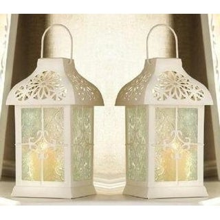 Set of 2 Daisy Gazebo Candle Lanterns