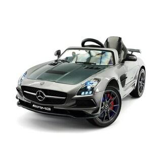 Moderno Kids Mercedes SLS AMG Final Edition 12V Kids Ride-On Car with Parental Remote - Silver