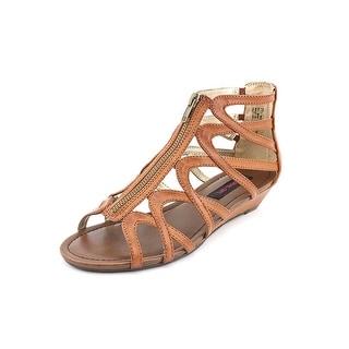 Material Girl Olive Open Toe Synthetic Gladiator Sandal