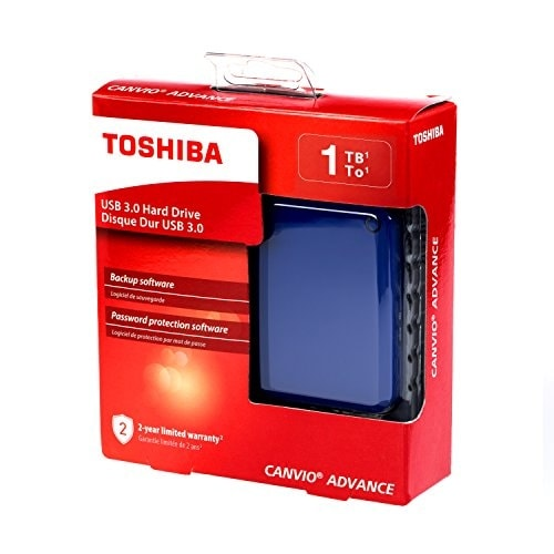 Toshiba - 1Tb Canvio Advance Blue