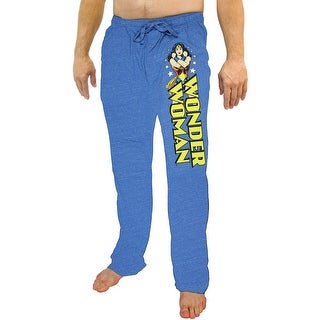 DC Comics Wonder Woman Snow Heather Adult Lounge Pajama Pants (Option: M)
