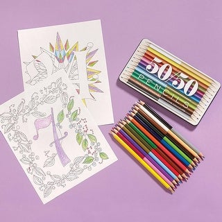 50/50 Double-Sided Colored Pencils Set - Set of 12