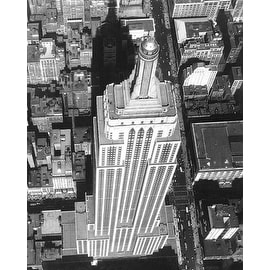 ''Empire State Building Aerial View, 1932'' by McMahan Photo Archive Mini-Prints Art Print (10 x 8 in.)