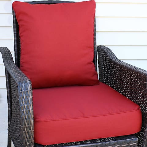 Sunnydaze Back and Seat Cushion Set for Indoor/Outdoor Deep Seating
