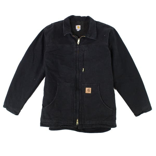 Shop Black Friday Deals On Carhartt Mens Black Size 4xl Sherpa Lined Sandstone Jacket Cotton Overstock 30670844