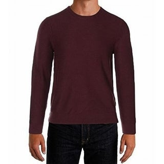 Michael Kors NEW Red Mens Size Small S Waffle-Knit Crewneck Sweater