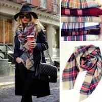 """Fashion color plaid scarves - Size: 55 """"x 55"""""""