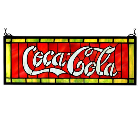 Meyda Tiffany 106206 Stained Glass Window Pane from the Coca-Cola Collection