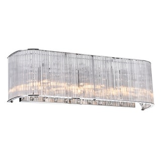 Link to Silver Orchid Blue 3-light Wall Sconce with Chrome Finish Similar Items in Sconces